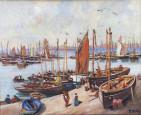 Bateaux en carénage sur le port de Douarnenez par A. Tavin