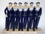 Six marins de la Royale en goguette par Fanch