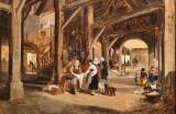Les anciennes Halles d'Auray par Jules Noël