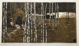 Charbonniers en forêt par Mathurin Méheut