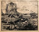 La tour carrée de St Guénolé Penmar'ch par Mathurin Méheut