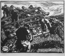 Aux avirons - Saint-Guénolé Janvier 1920 par Mathurin Méheut