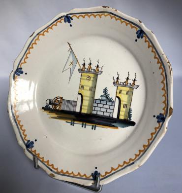Assiette révolutionnaire à décor de la Bastille - Nevers