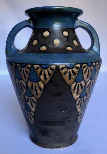 Vase Odetta à décor géométrique