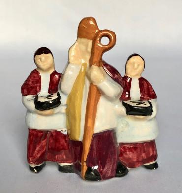 L'évêque et les enfants de chœur à la procession par Sévellec