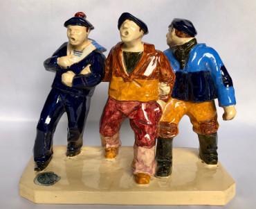 Trois marins en goguette par Sévellec