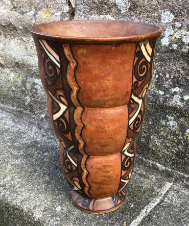 Vase cornet Odetta par René Beauclair