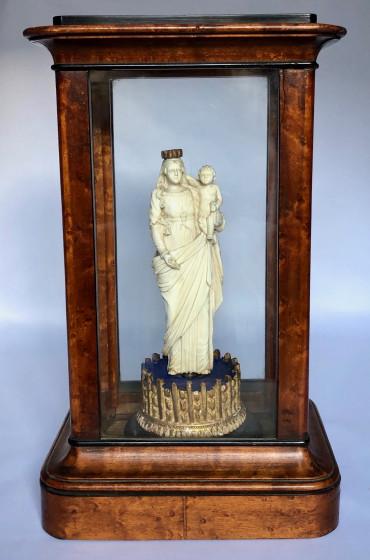Vierge à l'enfant en ivoire - Travail dieppois